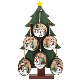 Christmas Tree Display with Light Up Ornaments (25 pc. ppk.)