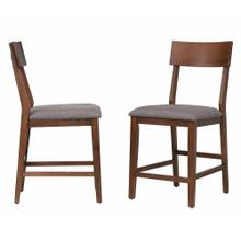DLU-MC-B45-2  Bar Stool  Counter Height  Padded Performace Fabric Seat  Set of 2
