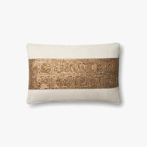 P0610 Ivory / Gold Pillow