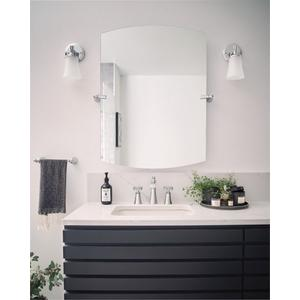 Flara chrome bath light