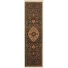 Petra Charcoal Runner 2ft 4in X 7ft 10in