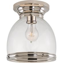Visual Comfort CHC4132PN-CG E. F. Chapman Edwardian 1 Light 10 inch Polished Nickel Flush Mount Ceiling Light in Clear Glass, Open Bottom