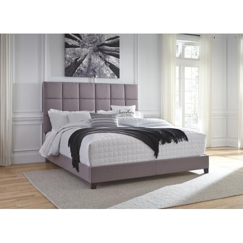 Queen Upholstered Bed With Mattress