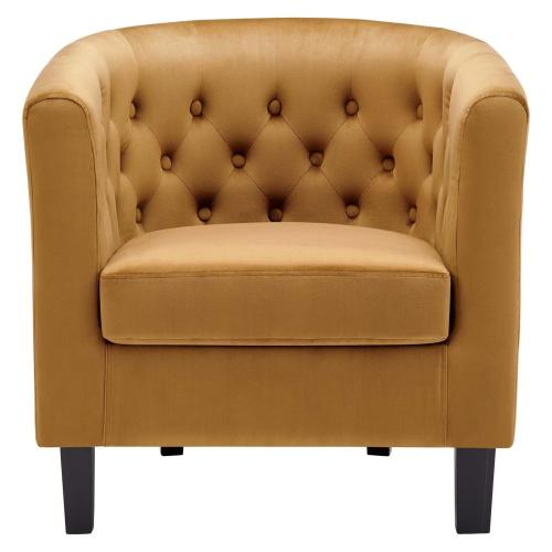 Prospect Performance Velvet Armchair in Cognac