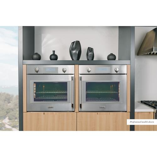 Thermador - Single Wall Oven 30'' Left Side Opening Door, Stainless Steel MED301LWS