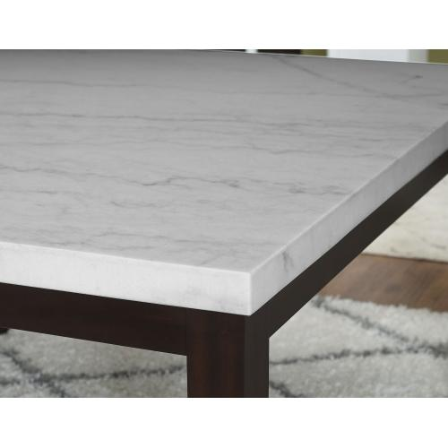 Gallery - Francis 7 Piece 54-inch Square Marble Top Set(Counter Table & 6 Counter Chairs)