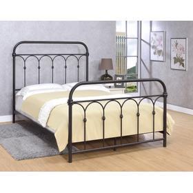 Hallwood Bed - Full, Rust Black Finish