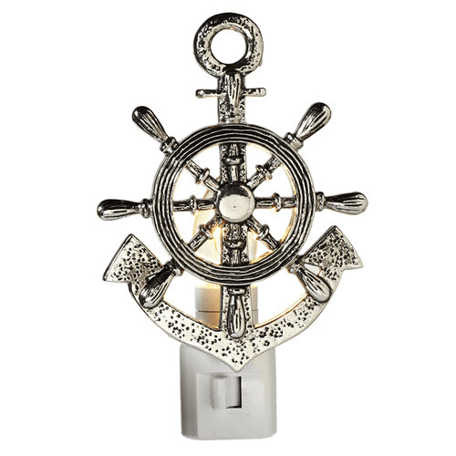 Ship Wheel & Anchor Night Light
