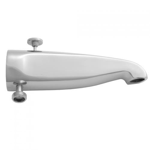 "Jaclo - Antique Brass - 8 1/2"" Reach Brass Diverter Tub Spout with Handshower Outlet"