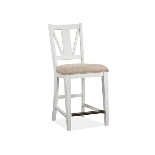 Counter Chair w/Upholstered Seat (2/ctn)