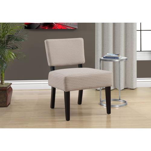 Gallery - ACCENT CHAIR - LIGHT / DARK TAUPE ABSTRACT DOT FABRIC