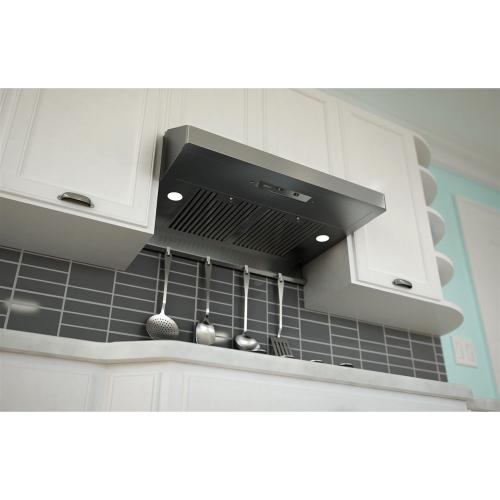 """Zephyr - Zephyr AK7136ASBF  36"""" Gust Undercabinet Hood with 400 CFM Blower, 3 Speed Levels"""