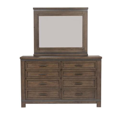 Queen Two Sided Storage Bed, Dresser & Mirror, Chest