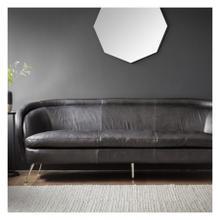 GA Tesoro Sofa Black Leather