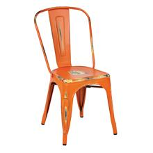 Bristow Armless Chair, Antique Orange Finish, 4 Pack