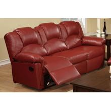 Izem Reclining/Motion Loveseat Sofa or Recliner, Burgundy-bonded-leather, Motion-sofa