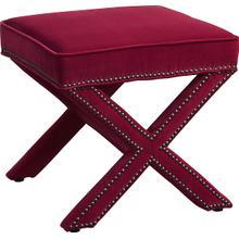 See Details - Reese Pink Velvet Ottoman