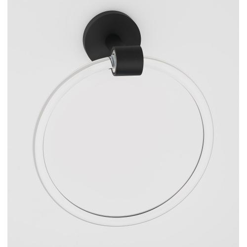 Acrylic Contemporary Towel Ring A7240 - Unlacquered Brass