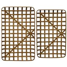 Paracel Natural  Industrial Traditional  Set of Two Bamboo Trays