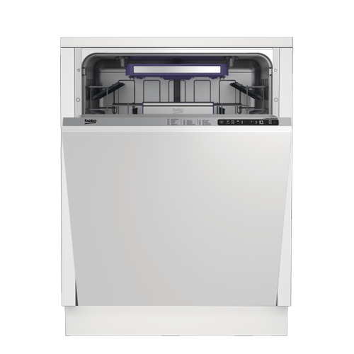 Beko - Tall Tub Dishwasher with 14 place settings, 45 dBa Fully integrated panel ready