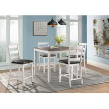 Martin Counter White Pub Set  Table & 4 Stools            (DMT7005DS,75205)