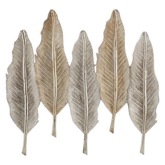 Riad Silver Leaves Wall Decor