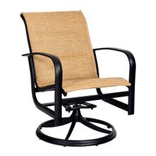 See Details - Fremont Padded Sling Swivel Rocking Dining Armchair