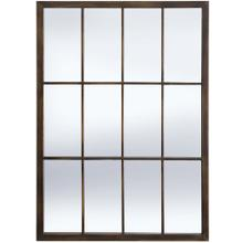BRADLEY BRONZE MIRROR  20in w. X 28in ht. X 1in d.  Powder Coated Window Pane Wall Mirror