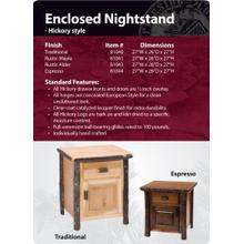 Hickory Enclosed Nightstand