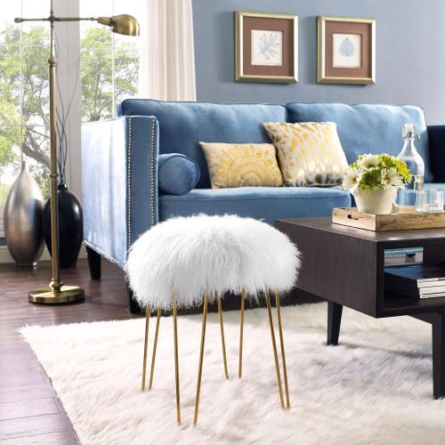 Product Image - Zelda White Sheepskin Bench