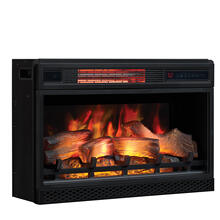 "26"" 3D Infrared Quartz Electric Fireplace Insert with Safer Plug® and Safer Sensor"