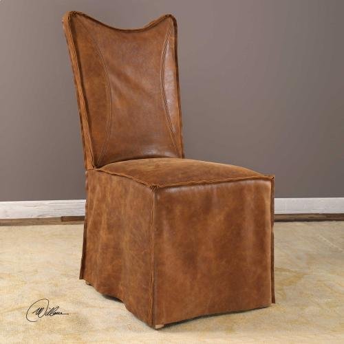 Delroy Armless Chair, Cognac, 2 Per Box