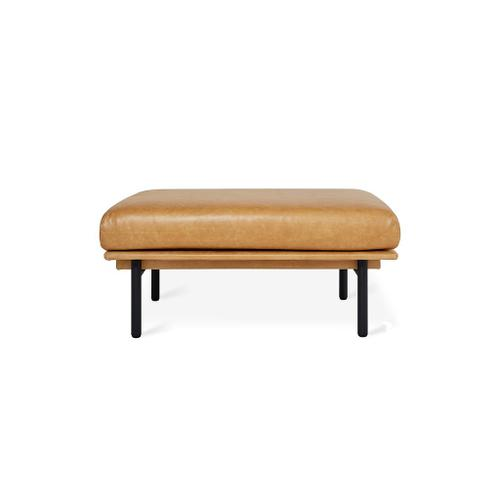 Foundry Ottoman New Canyon Whiskey Leather / Black