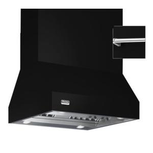 """Viking - 66"""" Wide Island Hood, Chrome Accessory Rail on front and back"""