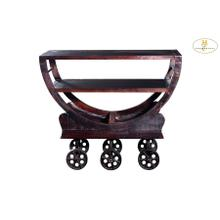 See Details - Iron Kitchen Cart with Wheels