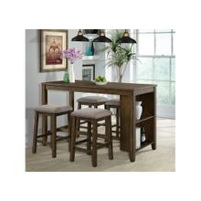 5046 Everett 5-Piece Space Saver Pub Dining Set