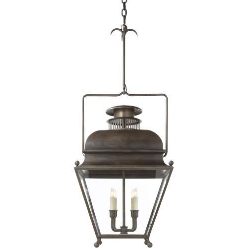 Visual Comfort CHC2216AI E. F. Chapman Holborn 4 Light 18 inch Aged Iron Pendant Ceiling Light