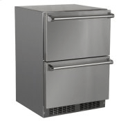 24-In Outdoor Built-In Refrigerated Drawers with Door Style - Stainless Steel