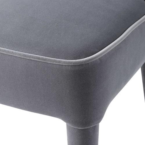 Brie Armless Chair, Gray, 2 Per Box