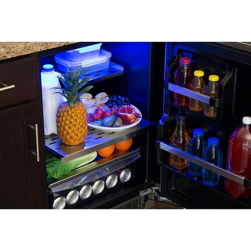 24-In Professional Built-In All Refrigerator with Door Style - Stainless Steel, Door Swing - Right