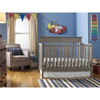Fisher-Price Newbury Convertible Crib, Vintage Grey