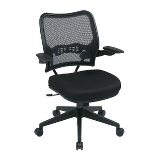 See Details - Deluxe Airgrid® Back Chair With Custom Fabric Seat and Cantilever Arms