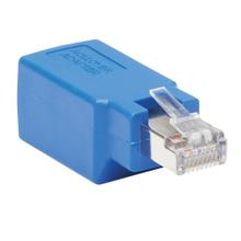 Cisco Serial Console Rollover Adapter (M/F) - RJ45 to RJ45, Shielded, Blue