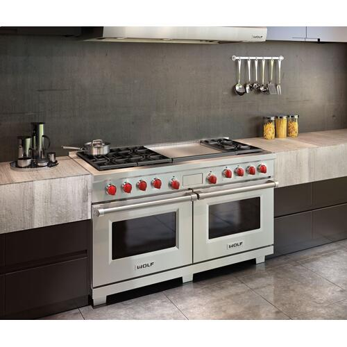 "Legacy Model - 60"" Dual Fuel Range - 6 Burners and Infrared Dual Griddle"