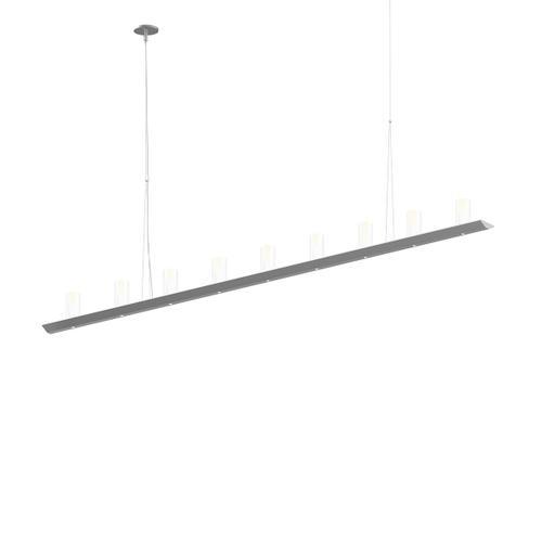 "Sonneman - A Way of Light - Votives LED Bar Pendant [Size=6', Color/Finish=Bright Satin Aluminum, Shade Size=4"" height x 2"" diameter]"