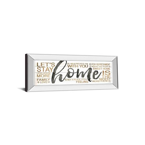 "Classy Art - ""Home"" By Marla Rae Mirror Framed Print Wall Art"