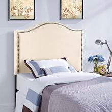 View Product - Curl Twin Nailhead Upholstered Headboard in Ivory