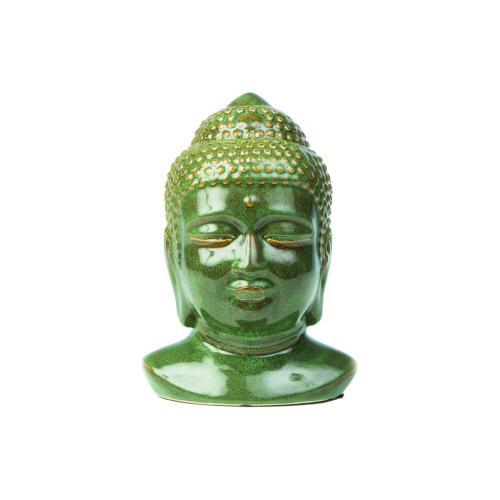 Buddha Head, Green (2/carton)