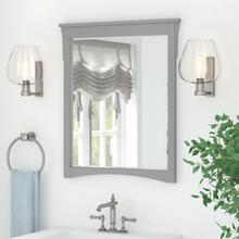 Salinas Bathroom Wall Mounted Bathroom Mirror - Cape Cod Gray