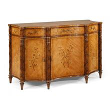 Satinwood side cabinet with floral inlays